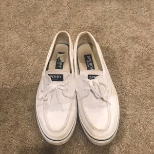 Men's White Sperrys